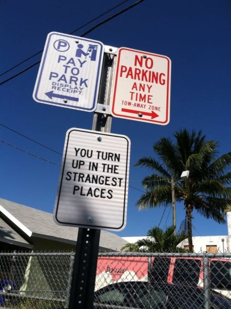 Poetry sign in Little Havana